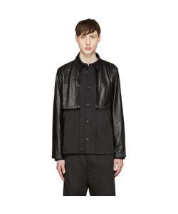 Giuliano Fujiwara | Twill And Leather Cape Shirt
