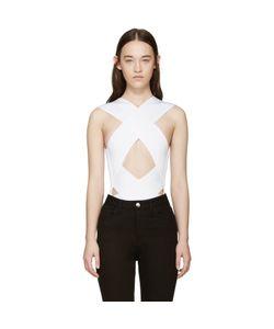 Balmain | Rib Knit Criss-Cross Bodysuit