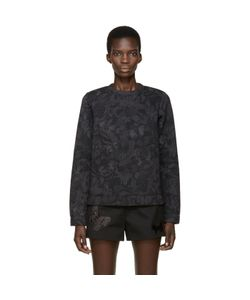Valentino   And Grey Neoprene Butterfly Pullover