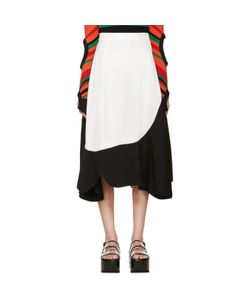 Toga | And White Asymmetrical Skirt