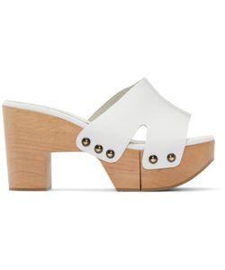 Robert Clergerie | Exclusive White Cetri Clog Sandals