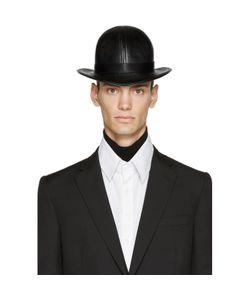 KTZ   Faux-Leather Short Bowler Hat