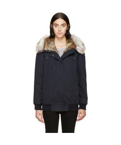 Army Yves Salomon | Army By Yves Salomon Fur-Trimmed Bomber Jacket
