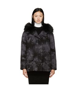 Army Yves Salomon | Army By Yves Salomon And Grey Tie-Dye Fur-Lined Parka