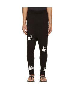 Thamanyah | And White Tech Knit Lounge Pants