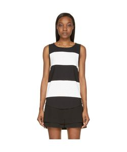 Jay Ahr | And White Striped Eyelet Tank Top
