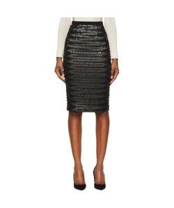 Burberry London   Silk Sequin Embroidered Midi Skirt