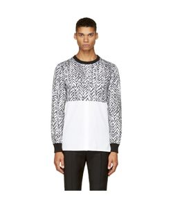 Kris Van Assche | Krisvanassche Exclusive Black And White Chevron Hybrid Shirt