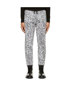 Kris Van Assche | Krisvanassche And White Chevron Lounge Pants
