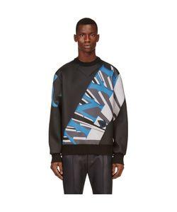 Juun.J   Black Neoprened Vinyl Sweatshirt