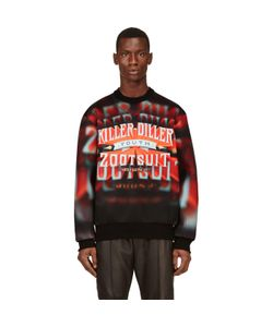 Juun.J   And Orange Neoprene Killer Diller Sweatshirt
