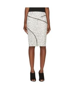Jay Ahr | And Black Ziparound Leopard Pencil Skirt