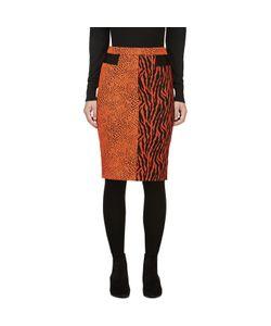 Avelon | Animal Print Jacquard Skirt