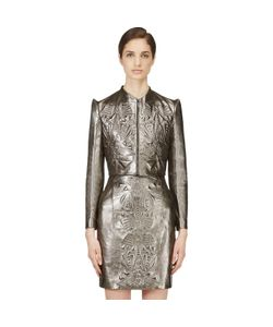 Iris Van Herpen | Cropped Embossed Leather Jacket