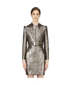 Iris Van Herpen | Cropped Embossed Leather Jacket
