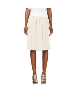Calvin Klein Collection | Spun Silk Micro Pleated Vives Wrap Skirt