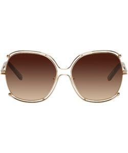 Chloé | Gold Round Sunglasses