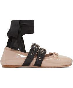 Miu Miu | Double Buckle Ballerina Flats