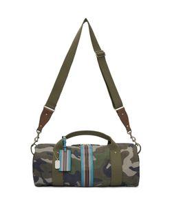 Valentino   Camo Stripe Duffle Bag