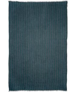 Umit Benan | Green And Navy Striped Scarf