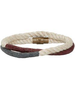 Robert Geller   Off-White Double Cord Bracelet
