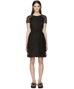 Burberry Prorsum | Black Silk Lace Panel Dress