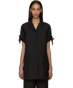 Sara Lanzi | Black Piqu Coat