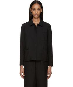 Sara Lanzi | Black Piqué Jacket