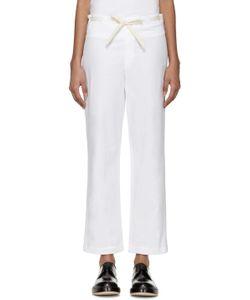 Sara Lanzi | White Drawstring Trousers