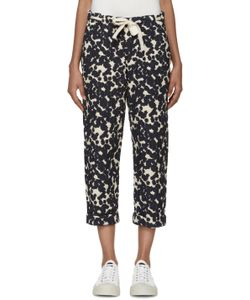 Sara Lanzi | Off-White And Navy Textured Trousers