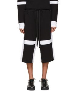Ueg | Black And White Sliced Lounge Shorts