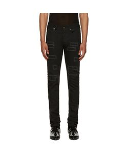 Saint Laurent | Patched Low-Waisted Skinny Jeans