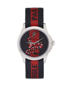 Gucci | And Navy Laveugle Par Amour Snake Watch