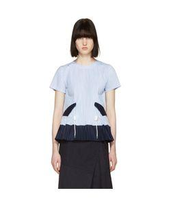Sacai | Striped Pleated Shirting Blouse