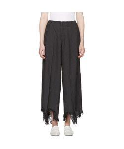 Facetasm | Pinstripe Torn Hem Trousers