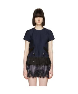 Sacai | Pleated Shirting Blouse