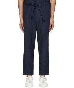 Umit Benan | Navy Cotton Comfort Trousers