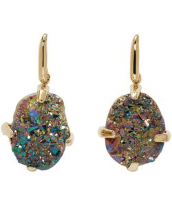 Christopher Kane | And Iridescent Single Stone Earrings