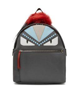 Fendi   Nylon And Fur Bag Bugs Backpack