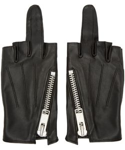 99 Is | 99 Is Leather Single-Finger Zip Gloves