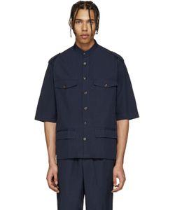 Umit Benan | Navy Cuban Military Shirt