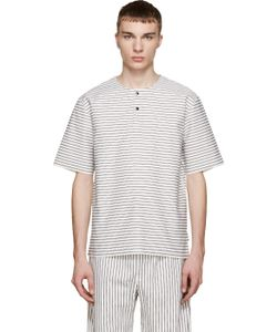 Phoebe English | White And Black Striped Henley