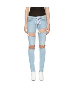 Off-White | Diagonal Ripped Skinny Jeans