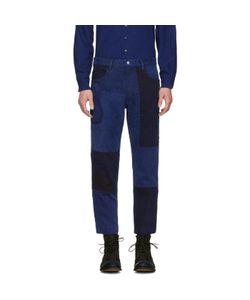 Blue Blue Japan | Patchwork Ankle Jeans