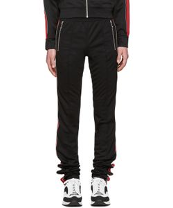 99 Is | 99 Is Black And Red Zip Lounge Pants
