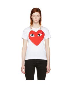 Comme Des Garçons Play   Double Large Heart T-Shirt