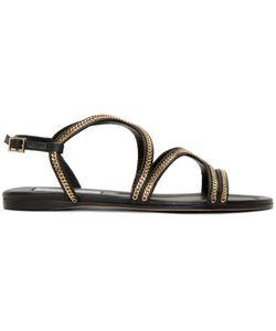 Jimmy Choo | Chain-Trimmed Nickel Sandals