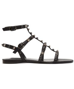 Valentino   Rockstud And Stone Gladiator Sandals