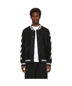 Off-White | Diagonal Brushed Varsity Jacket