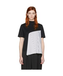 Facetasm | Exclusive Striped Panel T-Shirt